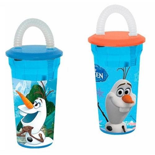 Bicchiere con cannuccia Disney Frozen Olaf