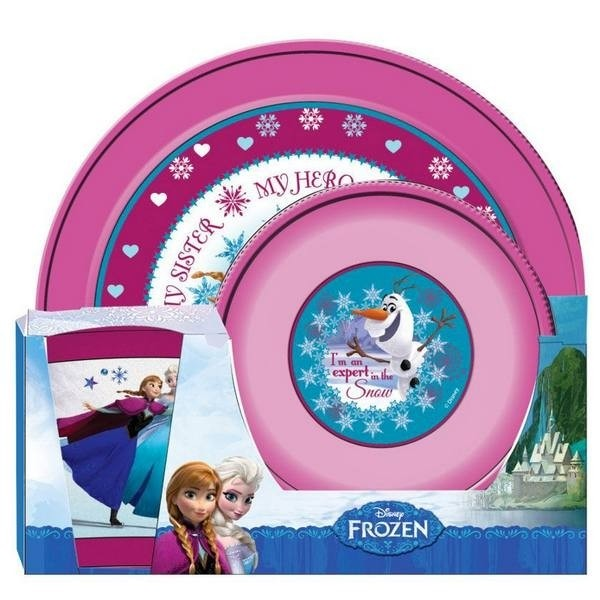 Set tavola 3 pezzi Disney Frozen