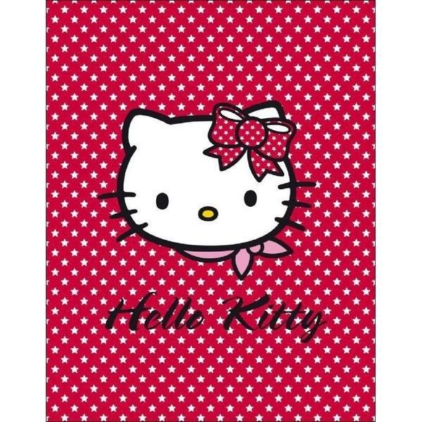 Plaid pile Hello Kitty Stelle