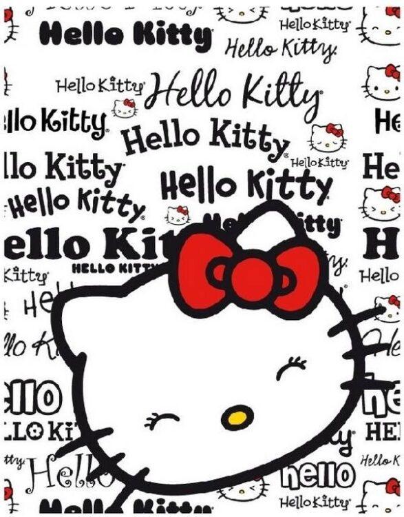 Plaid pile Hello Kitty Lettere