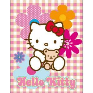 Plaid pile Hello Kitty Fiori