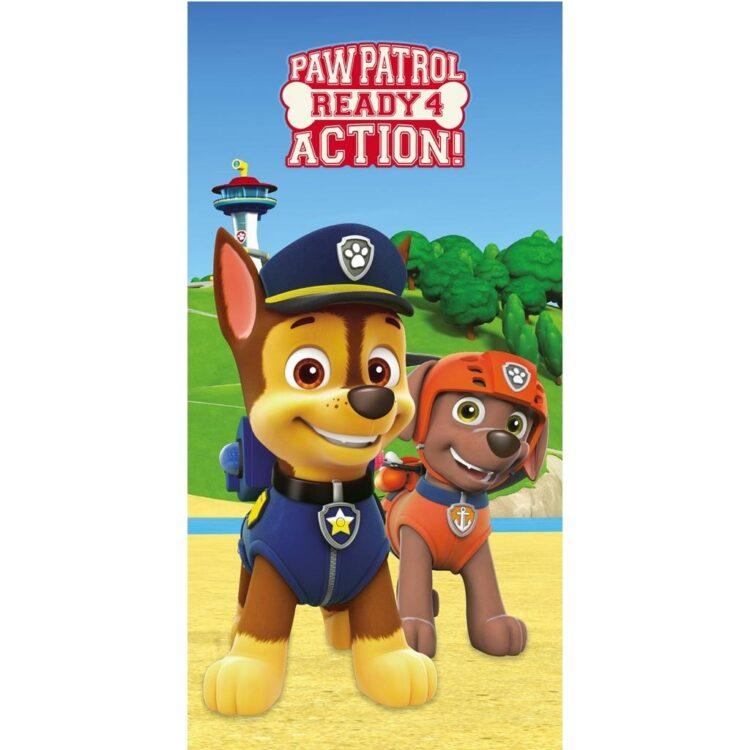 Paw Patrol - Asciugamano telo mare in microfibra Ready 4 Action