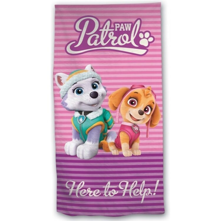 Paw Patrol - Asciugamano telo mare in microfibra Skye ed Everest