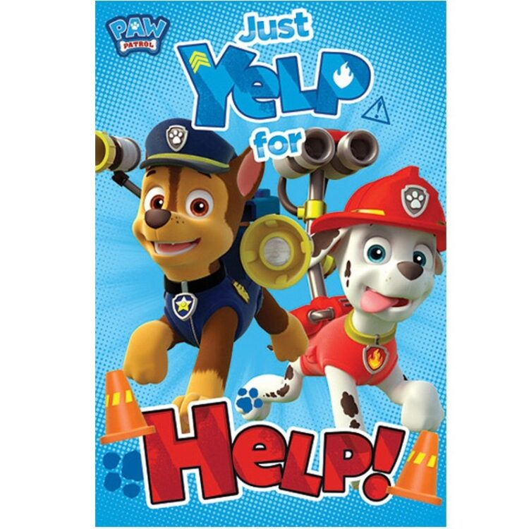 "Plaid pile Paw Patrol ""Just Yelp for Help"""