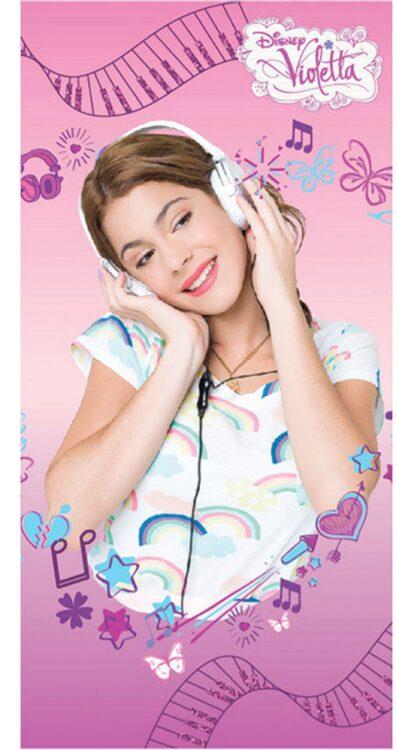 Asciugamano Telo Mare Violetta Disney Music