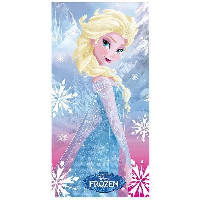 Asciugamano telo mare Disney Frozen Elsa in microfibra