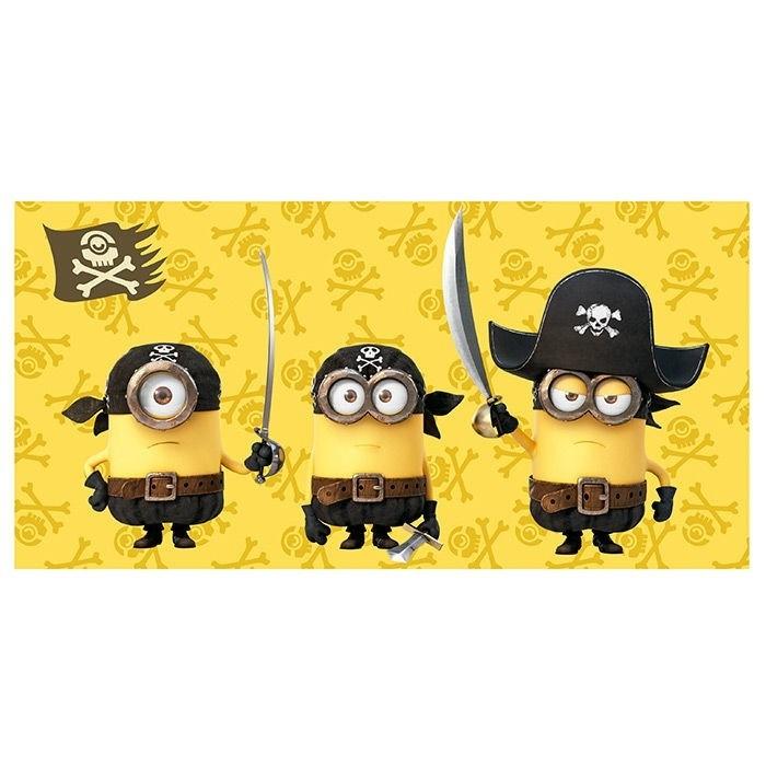 """Asciugamano telo mare Minions """"Pirati"""""""