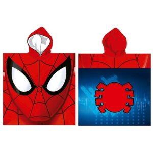 Accappatoio poncho Spiderman in microfibra