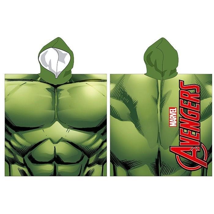 Accappatoio poncho Hulk in microfibra