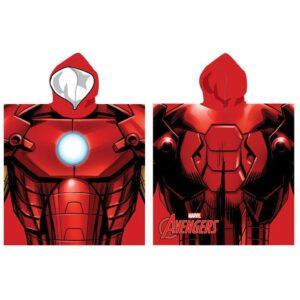 Accappatoio poncho Marvel Iron Man in microfibra