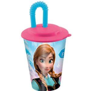 Bicchiere con cannuccia Disney Frozen