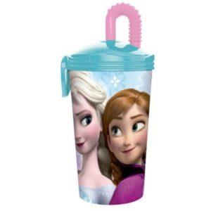 Bicchiere sport con cannuccia Disney Frozen