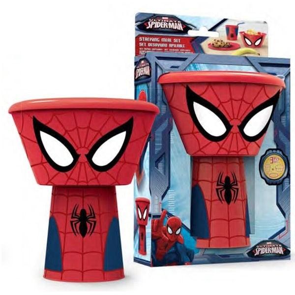 Set colazione impilabile Spiderman