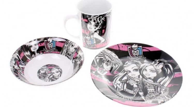 Set tavola 3 pezzi Monster High