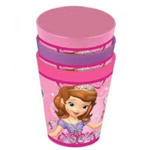 Set 3 bicchieri plastica Sofia la Principessa