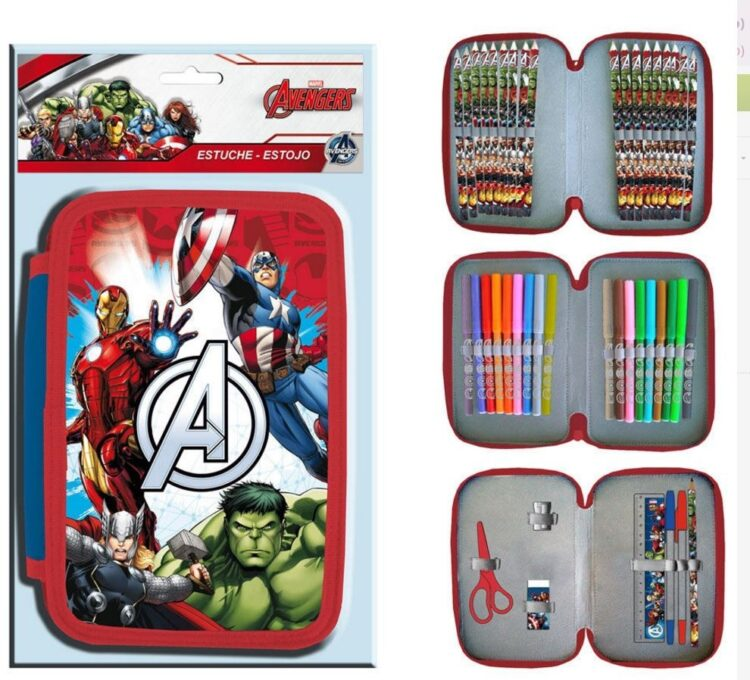Astuccio Avengers Marvel 3 zip
