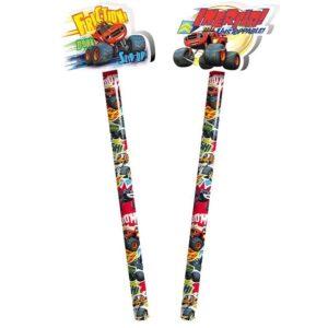 Espositore 36 matite con gomma sagomata Blaze e le Mega Macchine