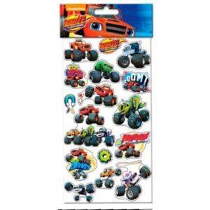 Blister stickers riposizionabili Blaze e le mega macchine.