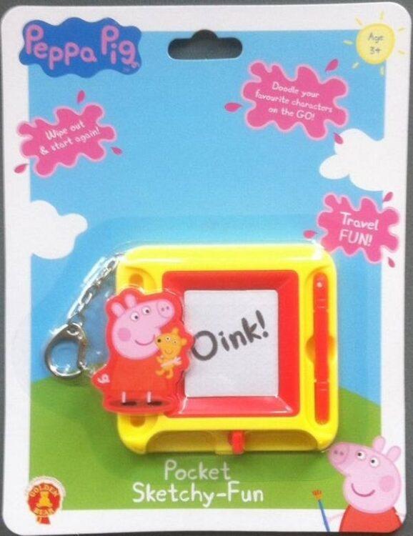 Portachiavi lavagnetta tascabile Peppa Pig