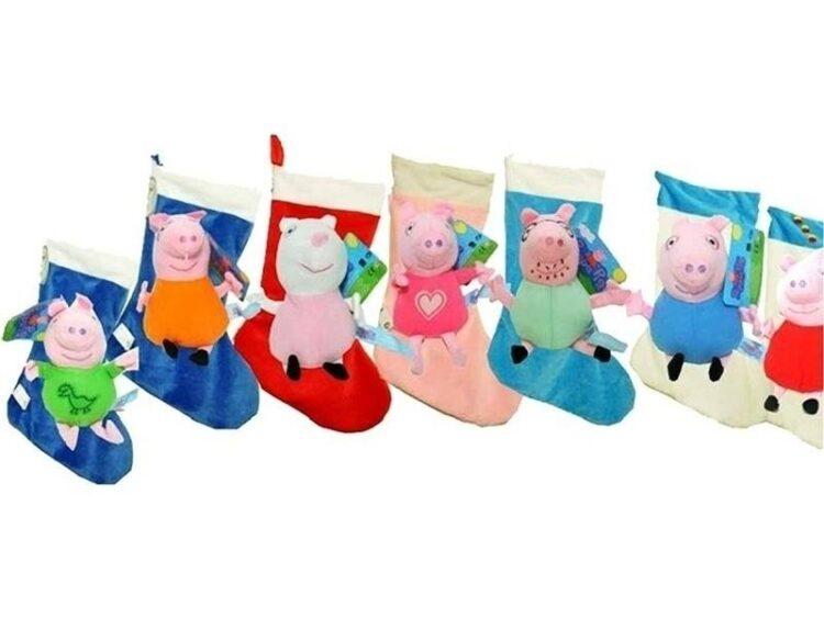 Calza con peluche personaggi Peppa Pig