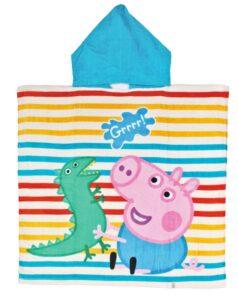 Accappatoio poncho con cappuccio Peppa Pig George