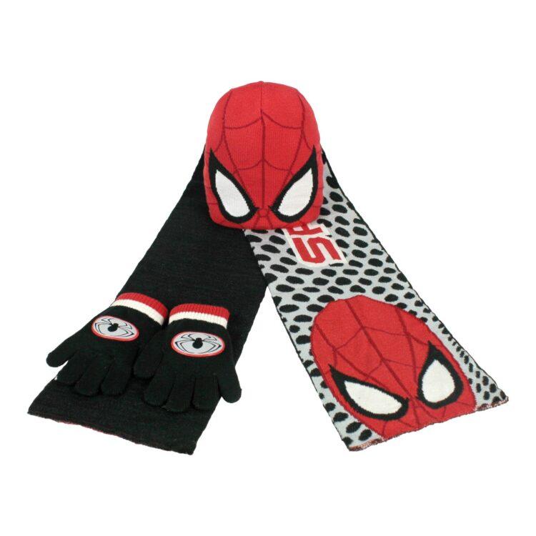 Set in maglia 3 pezzi Spiderman