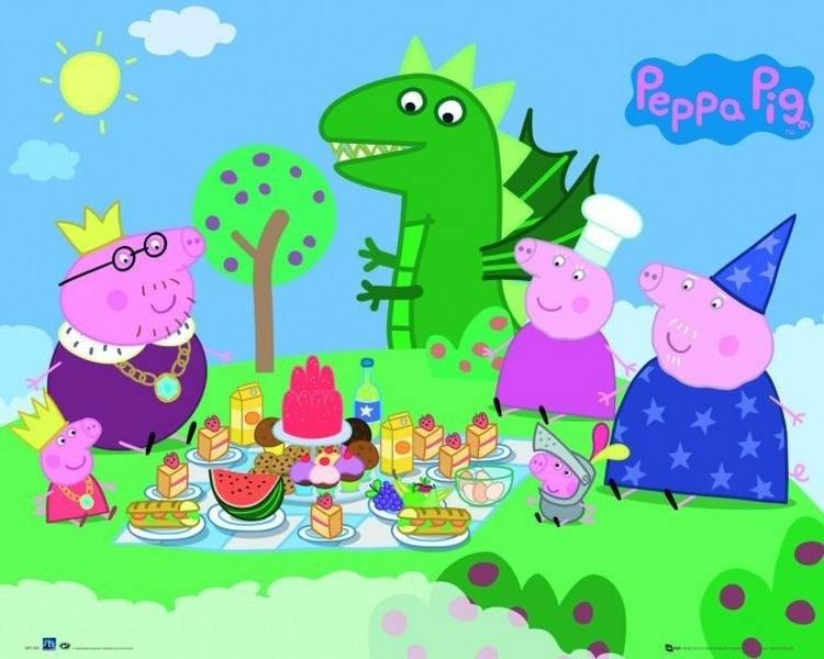 Mini Poster Peppa Pig Picnic