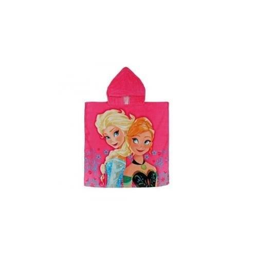 Accappatoio poncho con cappuccio Disney Frozen Anna e Elsa