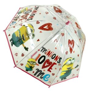 Ombrello trasparente Minions Love Me