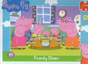 Puzzle 35 pezzi Peppa Pig Cena in famiglia