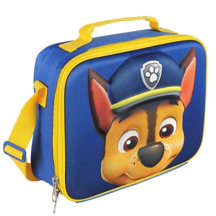 Paw Patrol - Portamerenda Termico Chase 3D per bambino