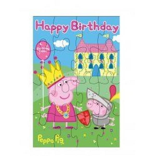 Puzzle card Happy Birthday Peppa Pig