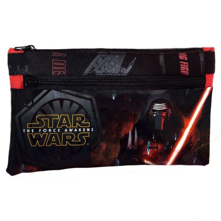 Astuccio portatutto doppia zip Star Wars Il Risveglio della Forza