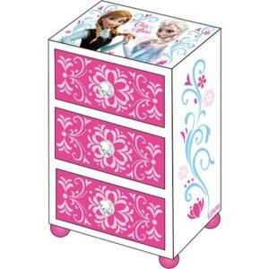 Portagioie in legno con cassetti Disney Frozen