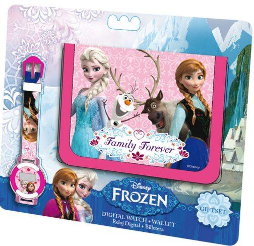 Set regalo portafoglio e orologio Disney Frozen