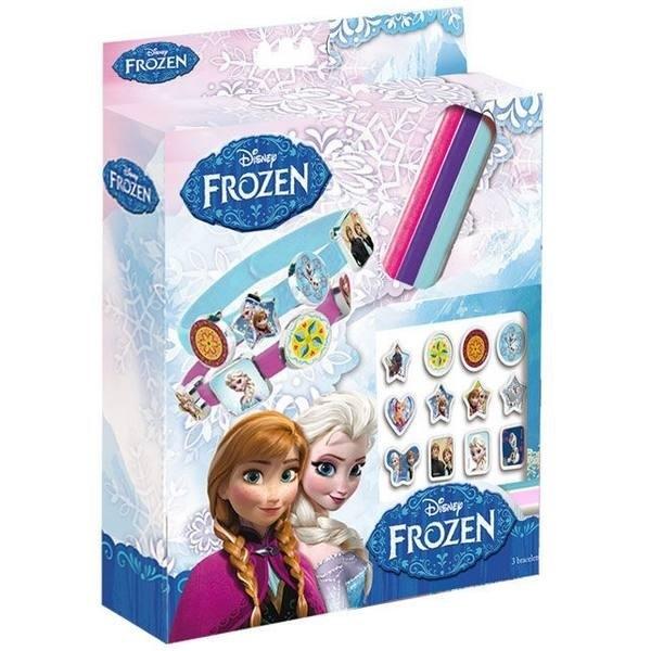 Confezione 3 bracciali con accessori Frozen