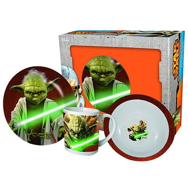 Set tavola in ceramica Star Wars Yoda 3pz