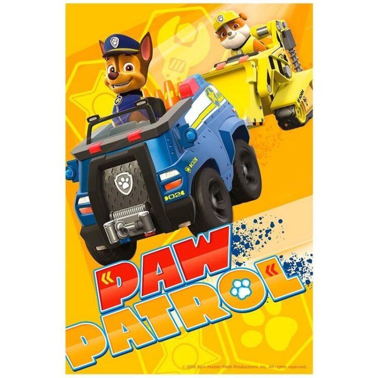 Plaid pile Paw Patrol Chase e Rubble