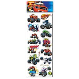 Espositore 48 fogli stickers in rilievo Blaze e le mega macchine.