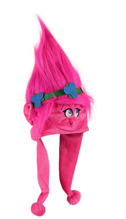 Cappellino peluche dei Trolls Poppy