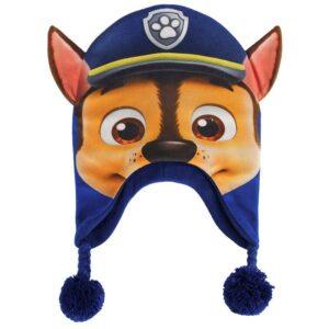 Paw Patrol - Cappellino peruviano Chase con orecchie e pon-pon