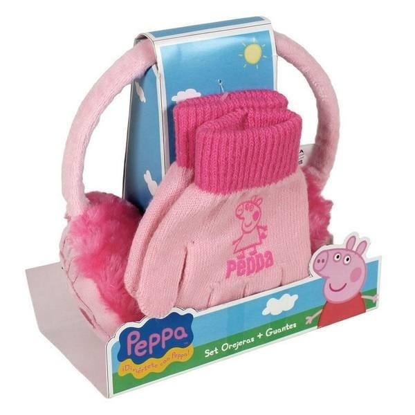 Set guanti e copriorecchie Peppa Pig