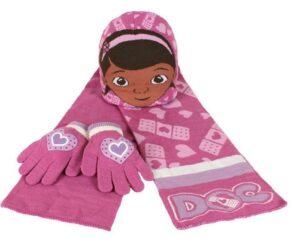 Set cappellino, guanti e sciarpa Dottoressa Peluche