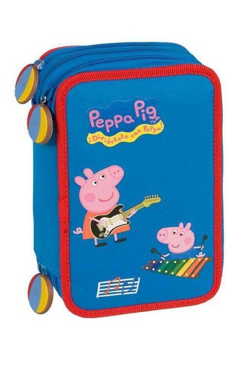 Astuccio doppio completo Peppa Pig