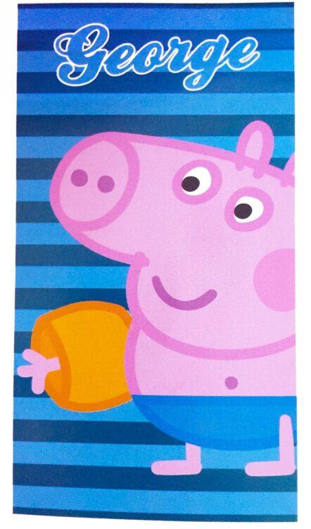Asciugamano telo mare George Stripes Peppa Pig