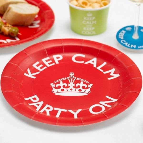 Piatti festa Keep Calm 8pz