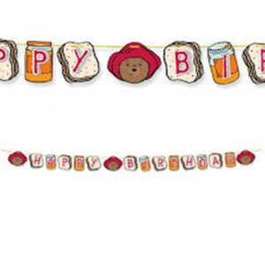 Festone Happy Birthday 3D Paddington Bear