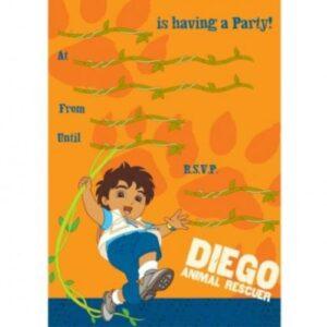 Inviti per festa Diego