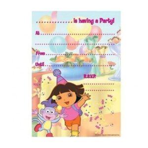Confezione 20 inviti per festa Dora