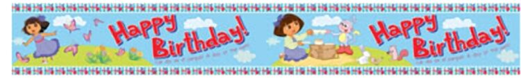 Festone Dora l'Esploratrice Happy Birthday